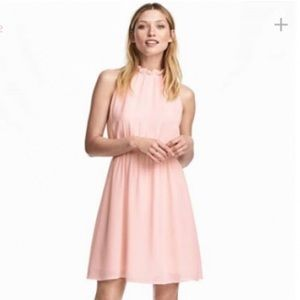 H&M Beautiful Light Pink Halter Dress